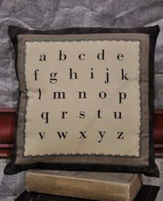 Alphabet pillow- perfect for the library in my future house.