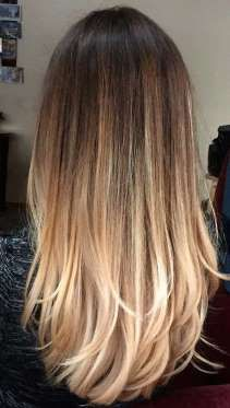Straight balayage is also popular at the moment, with searches up 240%. - long-hairstyless.com / Pinterest