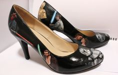 Star Wars Heels available to buy now!   facebook.com/Beautyforthegeek  Hand Painted Geek Shoes  Painted custom to order. Any design you want. (Not just Star Wars)