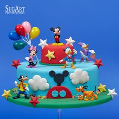 3rd Birthday Cakes For Boys, Mickey Mouse Clubhouse Cake, Boys 1st Birthday Cake, Theme Mickey, Mickey Mouse Clubhouse Birthday Party, Mickey Mouse Cake, Themed Birthday Cakes, Mickey Birthday, Minnie Mouse