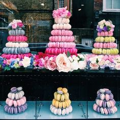 More Macaron Towers by Anges de Sucre of Kensington #angesdesucre #macarontower #macarons #kensington