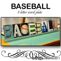 BASEBALL Alphabet Photography 8 LETTER Word by FrittsCreative