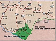 Big Bend National Park  Texas close to Terlingua - Chili cook offs each year