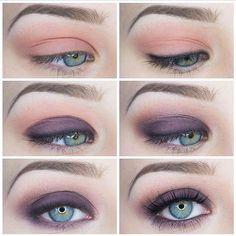 How to do purple eye shadow