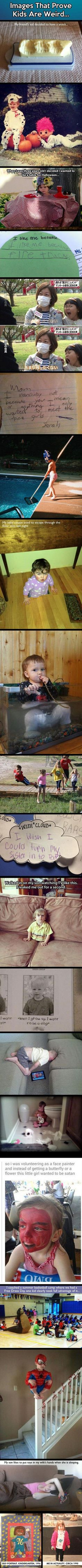 Pictures of the week, 64 images. Images That Prove Kids Are Weird (Compilation)