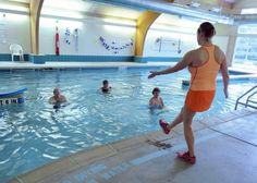 Katherine Longwell of Sewickley instructs an 'Aquatics for Arthritis' class Thursday, Jan. 16, 2014, at the Woodlands Wellness Center at the Woodlands Foundation's campus in Bradford Woods. — Randy Jarosz | For the North Journal