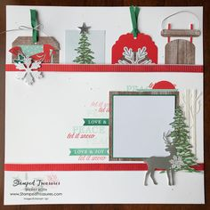 If you are looking for a Paper Pumpkin November 2019 alternative, be sure to check out todays project. I love using my kits for scrapbook layouts. Scrapbook Journal, Scrapbook Sketches, Scrapbook Paper, Christmas Scrapbook Layouts, Scrapbooking Layouts, Friend Scrapbook, Handmade Thank You Cards, Stampin Up Paper Pumpkin, Pumpkin Cards