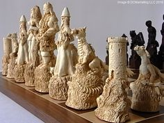 Lord of the Rings chess set.
