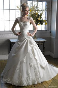 moonlight bridal wedding dress fall 2012 ball gown lace build up keyhole back style j6235