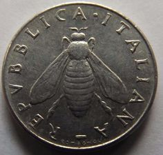 1954 ITALY 2 LIRE BU CONDITION W/ HONEY BEE!!!