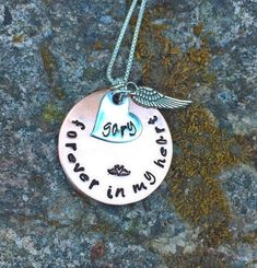Memorial Necklace Personalized Memorial Necklace by natashaaloha