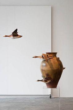 Om Art, Deco Paint, Artistic Installation, Modern Artwork, Sculpture Clay, Mood, French Art, Land Art, Hanging Art