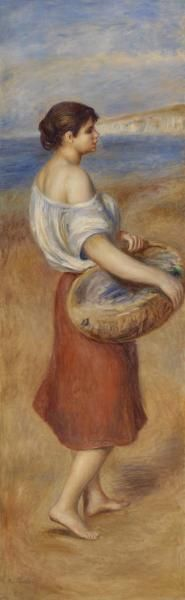 Pierre-Auguste Renoir - Girl with Basket of Fish (Pêcheuse de poissons), c. 1890, Barnes Foundation