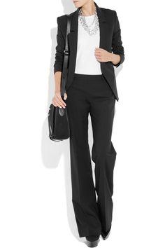 wear a plain white shirt underneath. Business Professional Attire, Business Casual Attire, Business Dresses, Professional Outfits, Business Wear, Office Attire, Office Outfits, Work Outfits, Job Interview Attire