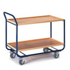 GTARDO.DE:  Tischwagen, 2 Etagen, Tragkraft 150 kg, Ladefläche 1000x575 mm, Maße 1170x600 mm 209,00 €