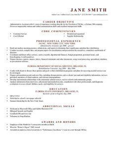 Brick Red Formal Resume Templates For Download