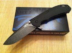 Zero Tolerance Hinderer Folding Knife Blackwashed Elmax Steel Titanium ZT 0560BW