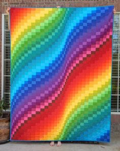 Made to Order Bargello Quilt Modern Rainbow Quilt Custom Quilt for Sale Lap Twin Double Full Queen King Bed Bedding Blanket Made to Order Bargello Quilt Modern Rainbow Quilt Custom Quilt for Sale Lap Twin Double Full Queen King Bed Bedding nbsp hellip Quilt Festival, Bargello Quilt Patterns, Bargello Quilts, Quilting Patterns, Quilting Ideas, Graph Paper Drawings, Graph Paper Art, Hand Quilting, Machine Quilting