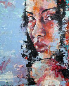 "Saatchi Online Artist thomas donaldson; Painting, ""10-2-13 head study"" #art"