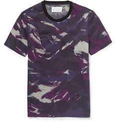 Maison Margiela - Resin-Coated Camouflage-Print Cotton T-Shirt