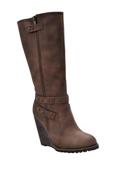 Tall Wedge Boot