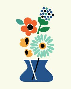 Poster | FLORAL TIME von Andy Westface | more posters at http://moreposter.de