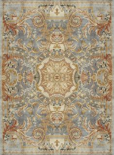 Savonnerie rug in wool (handmade) MONTMIRAIL Edition Bougainville