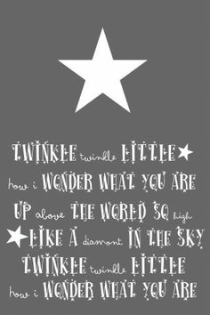 """..twinkle twinkle little star card // Would be so cute framed on a baby's wall. Love the """"diamont."""""""