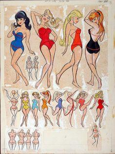 Pin-Up Girls by animator Preston Blair Cartoon Kunst, Comic Kunst, Cartoon Art, Comic Art, Pin Up Drawings, Cartoon Drawings, Drawing Sketches, Drawing Tips, Tex Avery