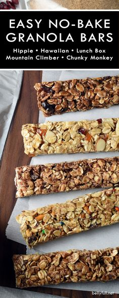 These no-bake easy homemade granola bars are delicious and healthier than any store bought variety. So simple, soft and chewy, and easily adaptable using your favorite mix-ins.