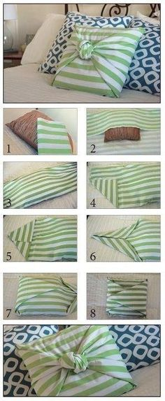 DIY Pillow - can be used to cover an old pillow that doesn't match