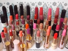 My lipstick collection http://www.mybeautykiss.ro/colectia_rujuri_fin2014.php  #lipstick #lipsticks