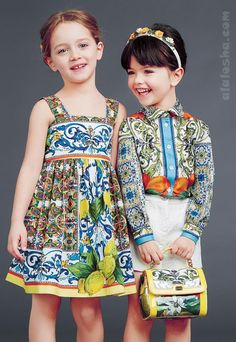 ALALOSHA: VOGUE ENFANTS: Dolce&Gabbana luxury girlswear FW14/15