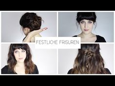 FRISUREN FÜR HEILIG ABEND I WEIHNACHTSHAARE - YouTube