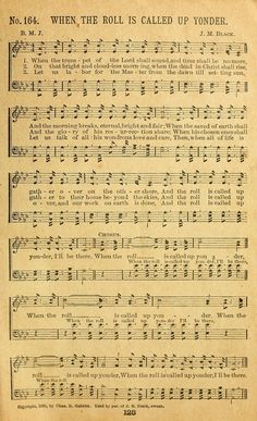 When the Trumpet of the Lord Shall Sound When the Roll Is Called Up Yonder… Gospel Song Lyrics, Gospel Music, Music Lyrics, Music Songs, Church Songs, Church Music, Hymns Of Praise, Praise Songs, Bible Songs