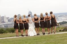 Bridesmaids choose their own style...