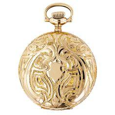 Ladies' Art Nouveau Hunter Case Elgin Pocket Watch - 70-1-342 - Lang Antiques