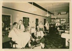 Barber Shop at 409 Bridge St. Charlevoix Mi in the mid 1940's