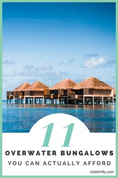 11 Best Overwater Bungalows You Can Actually AffordSearching for overwater bungalows that won't break the bank? From the Maldives to the Caribbean, affordable overwater bungalows are out there. If you've dreamed of staying in a water villa o Vacation Places, Vacation Destinations, Dream Vacations, Vacation Spots, Places To Travel, Places To Visit, Honeymoon Places, Honeymoon Ideas, Florida Keys Honeymoon
