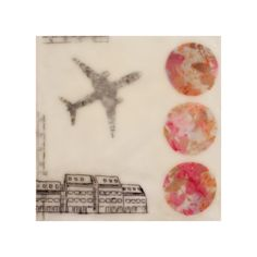 Eye of the Beholder Art Prints Challenge - Reykjavik by Two if by Sea Studios #pattern #encaustic #airplane #collage