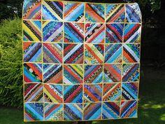 "String Quilt by Linda (Koshka2), via Flickr;  Quilt As You Go quilt;  measures 63"" square"
