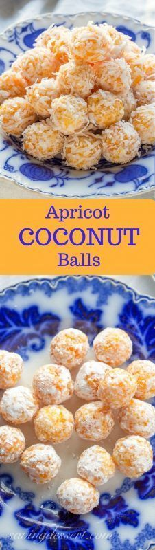 Coconut Balls Apricot Coconut Balls - Tangy apricots and coconut combine with sweetened condensed milk for a tasty no-bake treat!Apricot Coconut Balls - Tangy apricots and coconut combine with sweetened condensed milk for a tasty no-bake treat! Candy Recipes, Baking Recipes, Cookie Recipes, Dessert Recipes, Holiday Baking, Christmas Baking, Dessert Oreo, Apricot Recipes, Coconut Balls