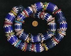 by Carl Drebelbis Jewelry Tools, Jewelry Art, Beaded Jewelry, Jewelry Making, Beaded Necklaces, Jewellery, Chevron, African Trade Beads, Bead Shop