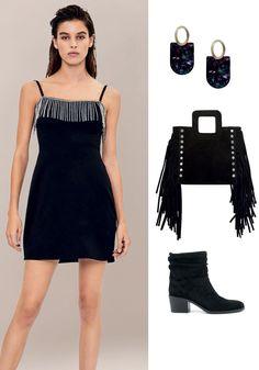 22 looks de fiesta completos: prendas, zapatos y accesorios y dónde comprarlos Lbd, Vestidos Zara, Estilo Retro, Outfits, Black, Dresses, Fashion, All Black Suit, Black Trousers
