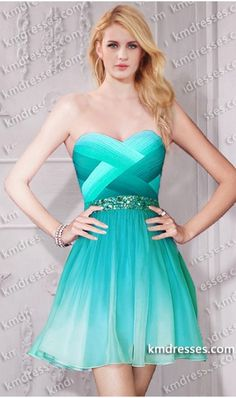 Super chic beaded multi tonal ombre crisscross short chiffon dress.prom dresses,formal dresses,ball gown,homecoming dresses,party dress,evening dresses,sequin dresses,cocktail dresses,graduation dresses,formal gowns,prom gown,evening gown.