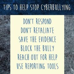 Tips to help stop #cyberbullying.  Offline #parenting helps online safety.