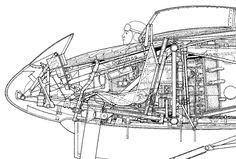 1944 Horten Ho 229 (Prototype) Luftwaffe - Fighter / Bomber. Engine: 2 x Junkers Jumo 004B turbojet, 1,956 lbf (8.7 kN). Armament: 2 x 30 mm 108 cannons, R4M rockets, 2 x 500 kilogram (1,100 lb) bombs. Max Speed: 607 mph (977 km/h) @ 39,00 ft (12,000 m)