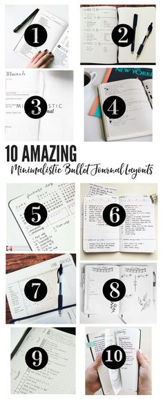 10 Amazing Minimalistic Bullet Journal Layouts