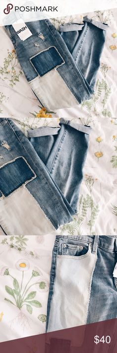 Gap Patch Girlfriend Jeans!! Brand New With Tags!! True to size!! GAP Jeans Skinny