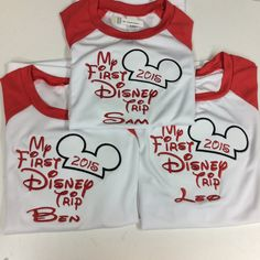 Personalized Custom embroidered Disney Vacation Shirts for the Family!